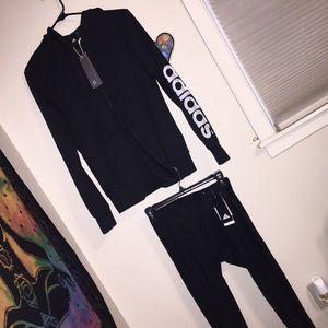BRAND NWT Women's Adidas sweatshirt & leggings set